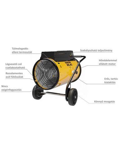Master RS40 40kW-os ventilátoros gyorsfűtő
