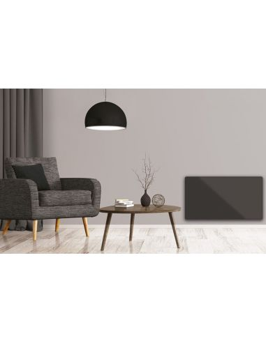 Nobo Oslo Clip On Glass üveg előlap - Antracit - 40 cm / 750 W